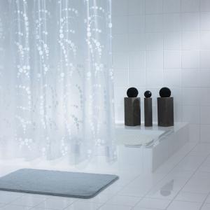Шторка для ванної Dots біла