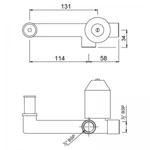 Вбудований механізм змішувача ALD-CHR-233
