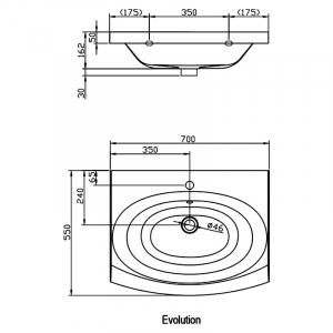 Раковина Evolution 70