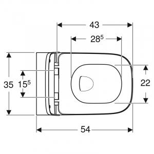 Інсталяція Duofix 3-in-1 458.126.00.1 + чаша унітаза Smyle Square Rimfree 500.683.00.2
