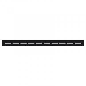 Душовою канал Лінія 60 чорний з полірованої гратами