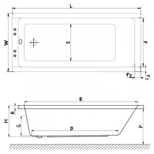 Ванна Base Standard 170x70 c ножками