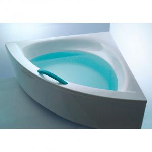 Акрилова ванна Play 160x160 з ніжками і білою ручкою