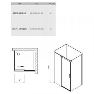 Душова кабіна MSDPS 100/100 R Transparent