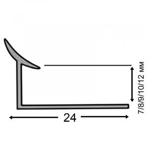 Уголок для кафеля Tis 0,7 серый