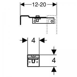 Кріплення пристінний Duofix Delta