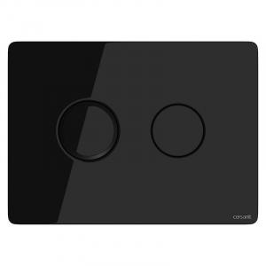 Кнопка Accento Circle чорне скло
