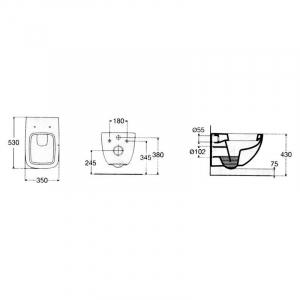 Інсталяційна система Rapid SL 3 in 1 + чаша унітаза Vigour