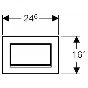 Кнопка Sigma 30, черная/хром
