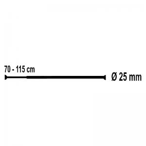 Карниз для шторок 70-115, хром