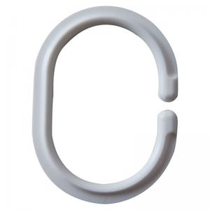 Кільця для шторки 12 штук, овальні, білі