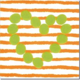 Декор Agatha Corazon Lineas Naranja