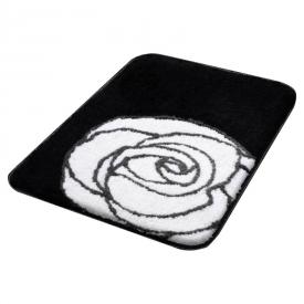 Коврик Rose, черно-белый