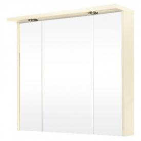 Шкафчик зеркальный Гермес ЗШ-80, вудулайн кремовый