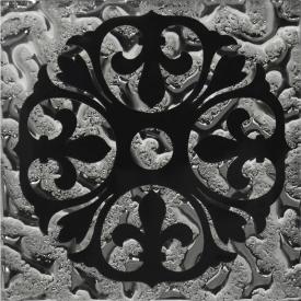 Декор напольный Бутон платина