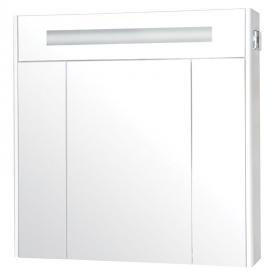 Шкафчик зеркальный Париж 80, белый