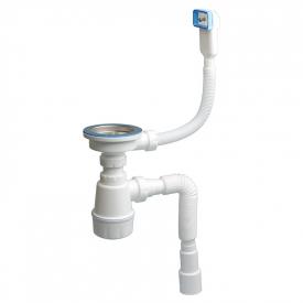 Сифон для мийки з переливом