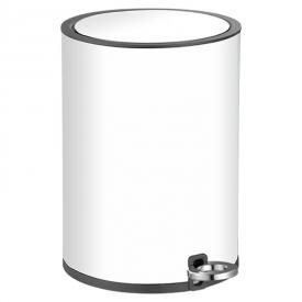 Контейнер для сміття 3 л, білий з чорним