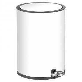 Контейнер для сміття 6 л, білий з чорним