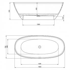 Ванна Ariane 165x75 окремостояча