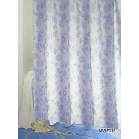 Шторка для ванної Mariposa блакитна