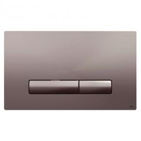 Кнопка Glam Olipure, матовый хром