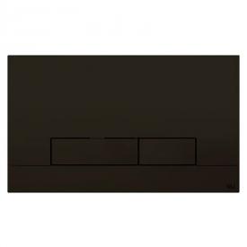 Кнопка Narrow Olipure Soft-touch, черная