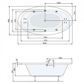 Панель до ванни Aura 204