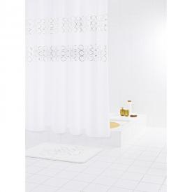 Шторка для ванної Paillette біла з срібним