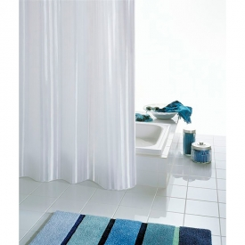Шторка для ванної Satin біла