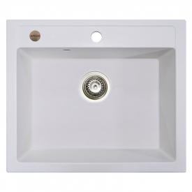 Кухонна мийка Cubo 59 врізна, біла