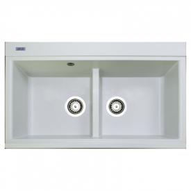 Кухонна мийка Duet 86 врізна, біла