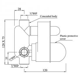 Вбудований механізм змішувача ALD-CHR-065