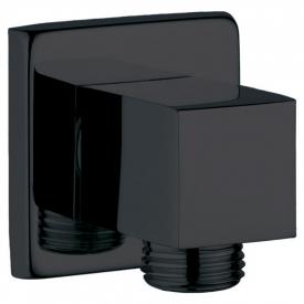 Подключение для душевого шланга квадратное, черное