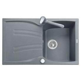Кухонна мийка Medio 79 врізна, світло-сіра