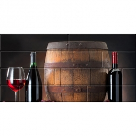 Декор Брик 2 Вино глянцевый