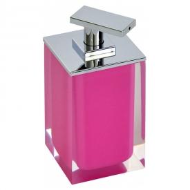 Дозатор Colours для жидкого мыла розовый