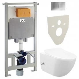Инсталляционная система Oli 80 + чаша унитаза Free Rim-Off с функцией биде