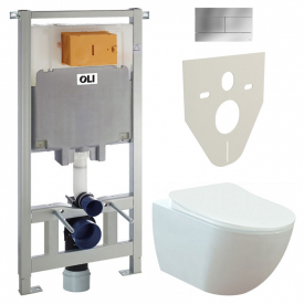 Інсталяційна система Oli 80 + чаша унітаза Free Rim-Off