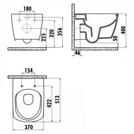 Інсталяція OLI120 Plus 099949 + чаша унітаза Elegant Rim-Off EG321-11CB00E-0000
