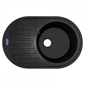 Кухонна мийка Albero 77 врізна, чорна