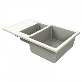 Кухонна мийка LaPas 79 врізна матова жасмин