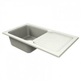 Кухонна мийка Orlean 86 врізна матова жасмин