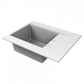 Кухонна мийка Bodrum 65 врізна матова біла
