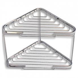 Поличка-корзинка Metalia Wire подвійна кутова