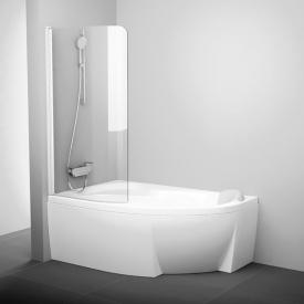 Штора для ванны CVSK1 Rosa 140/150 L Transparent+белый
