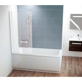 Штора для ванни CVS 1-80 L Transparent + білий