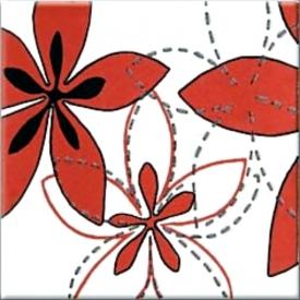 Декор Aplauz красный Flower 1