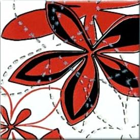 Декор Aplauz красный Flower 2