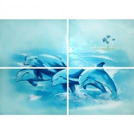 Декор Лазурь Дельфин